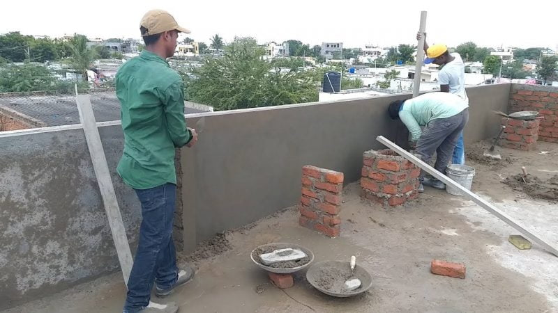 Parapet wall with elevation